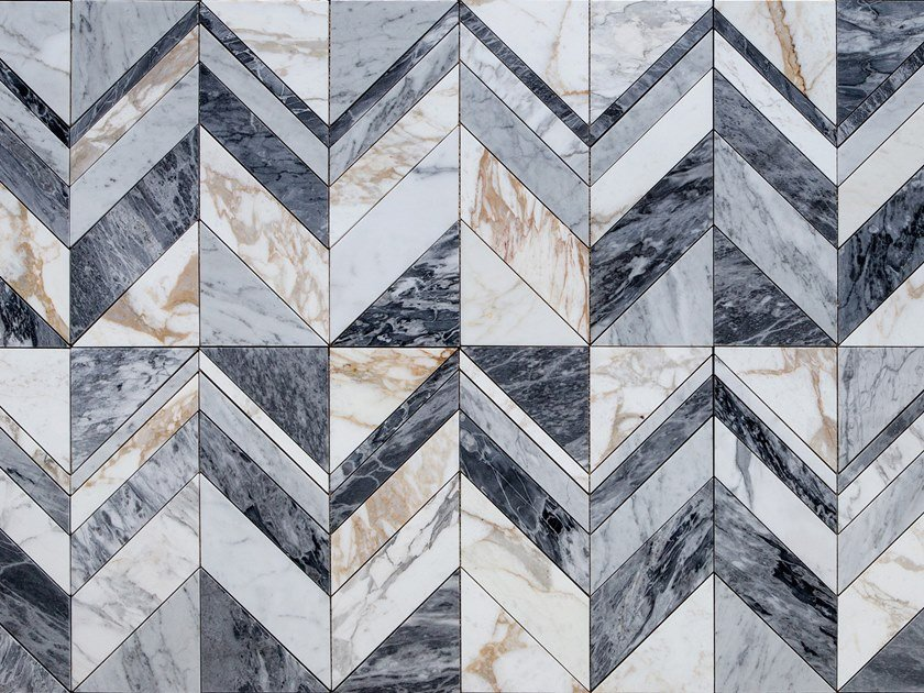 Marble wall/floor tiles CHEVY by Lithos Mosaico Italia
