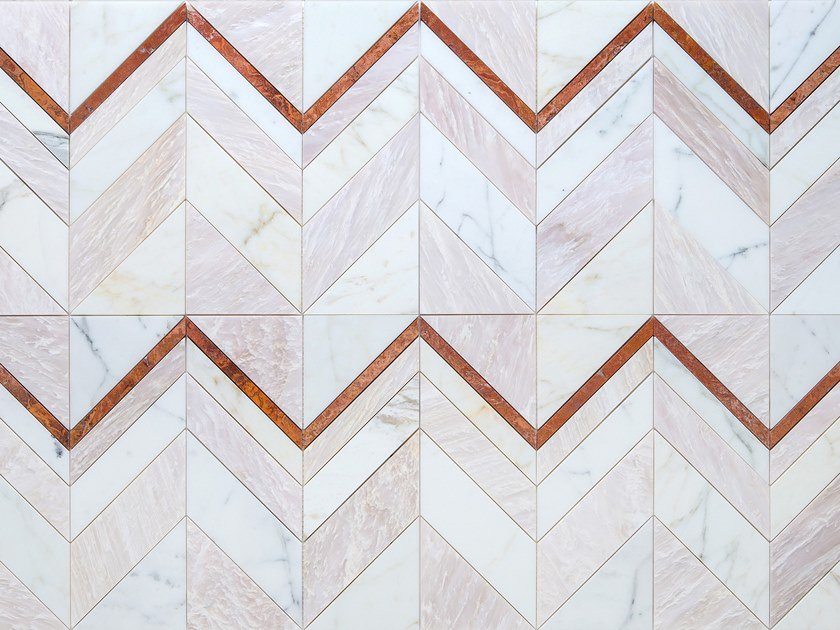 Marble wall/floor tiles CHEVY - PINK by Lithos Mosaico Italia