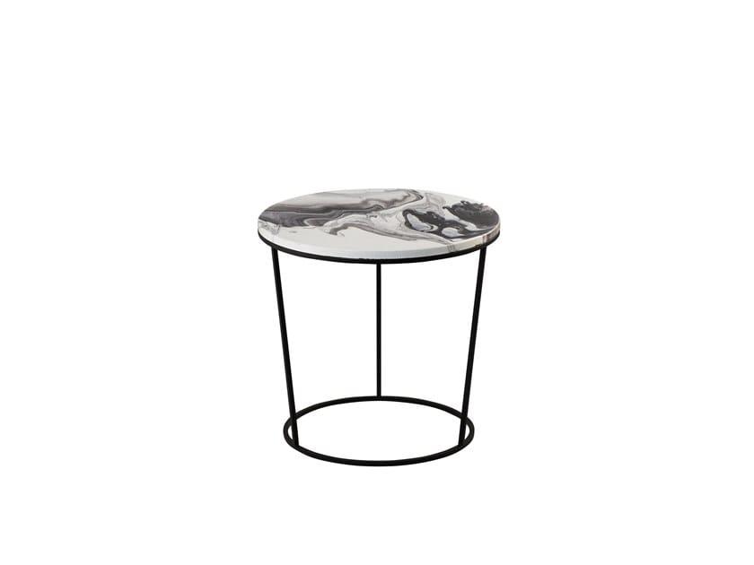 Round ceramic coffee table CHIARA & FOSCO SMALL by pulpo