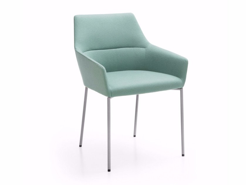 Upholstered chair with armrests CHIC 20H by profim