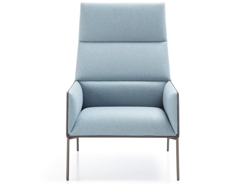 Upholstered fabric armchair with armrests CHIC AIR A10H by profim