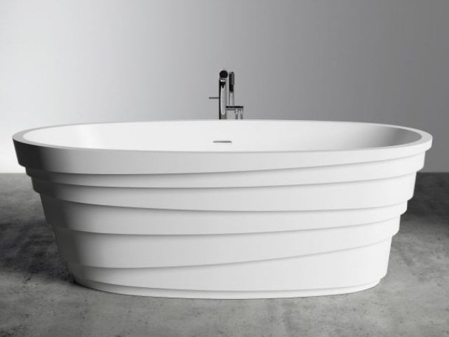 Vasca da bagno ovale in Solid Surface CHIC by RILUXA