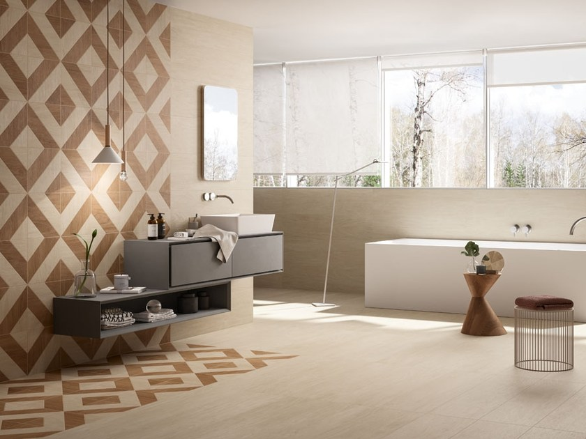 Porcelain stoneware wall/floor tiles with wood effect CHIC WOOD DECORI by Panaria Ceramica