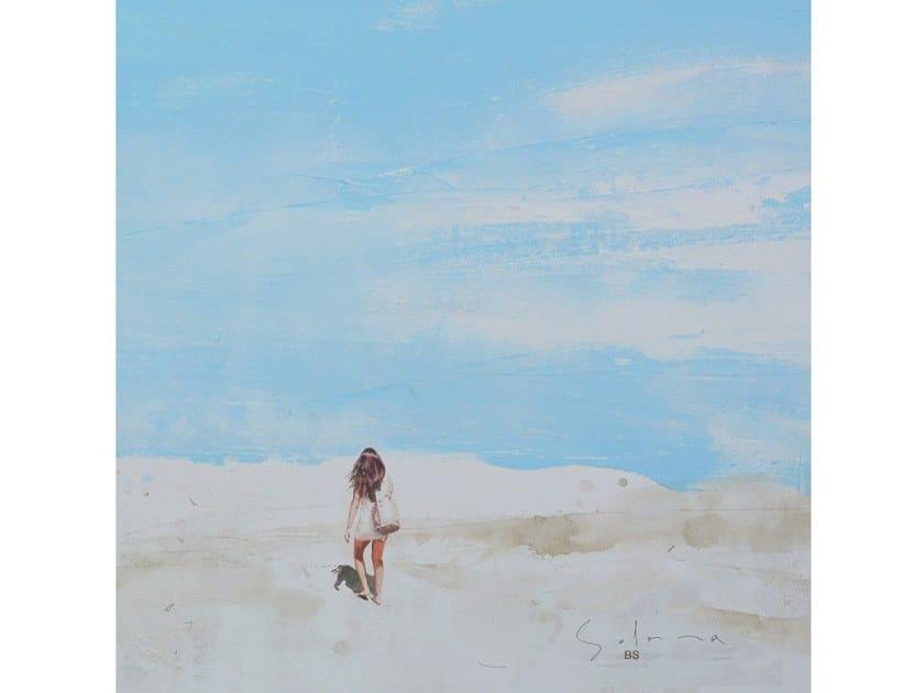 Canvas Painting Chica con bolsa en la playa by NOVOCUADRO ART COMPANY