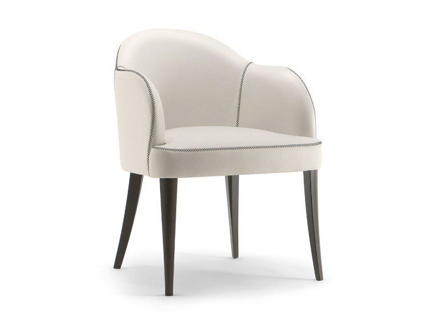 Leather easy chair with armrests CHICAGO | Easy chair by Tirolo