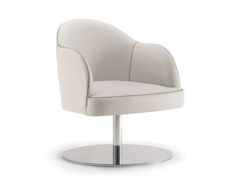 Leather easy chair with armrests CHICAGO | Easy chair with armrests by Tirolo