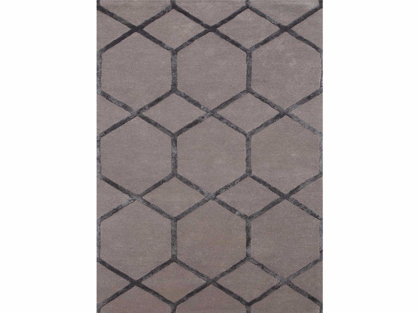 Rug with geometric shapes CHICAGO TAQ-195 Ashwood by Jaipur Rugs