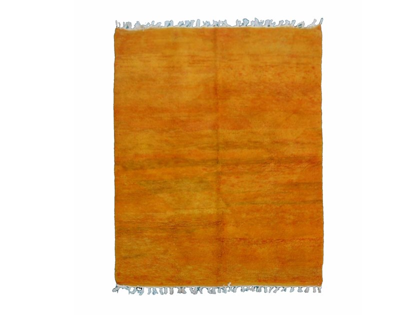 Long pile solid-color wool rug CHICHAOUA TA695BE by AFOLKI