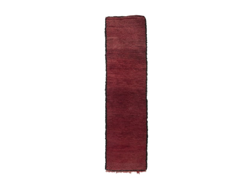 Long pile rectangular wool rug CHICHAOUA TAA1130BE by AFOLKI