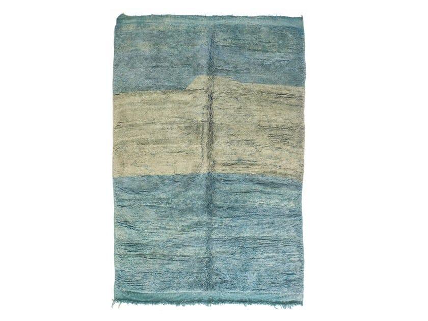 Long pile rectangular wool rug CHICHAOUA TAA1199BE by AFOLKI