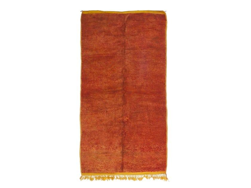 Long pile rectangular wool rug CHICHAOUA TAA1203BE by AFOLKI