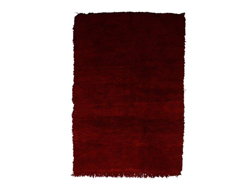 Long pile rectangular wool rug CHICHAOUA TAA944BE by AFOLKI