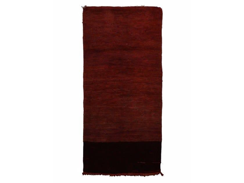 Long pile rectangular wool rug CHICHAOUA TAA945BE by AFOLKI