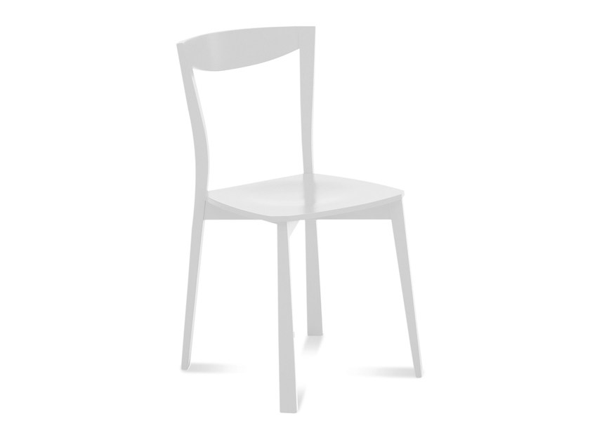 Lacquered wooden chair CHILI by DOMITALIA