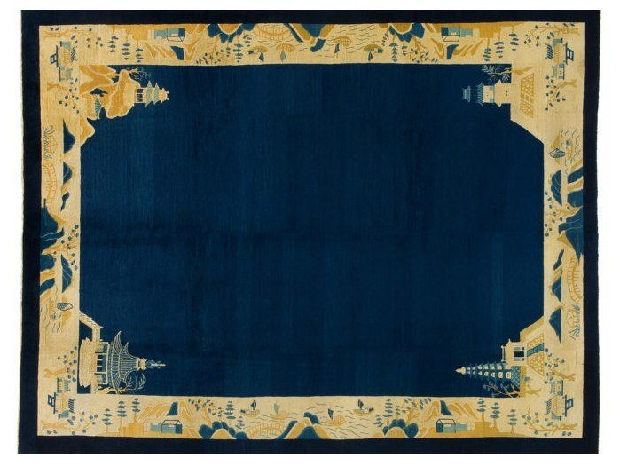 Handmade rectangular rug CHINA PEKINO 1 by Golran