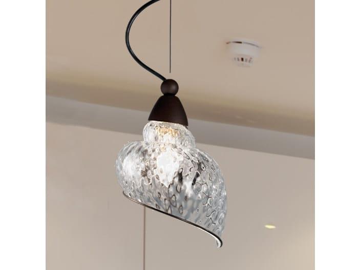 Murano glass pendant lamp CHIOCCIOLA MS 241 by Siru