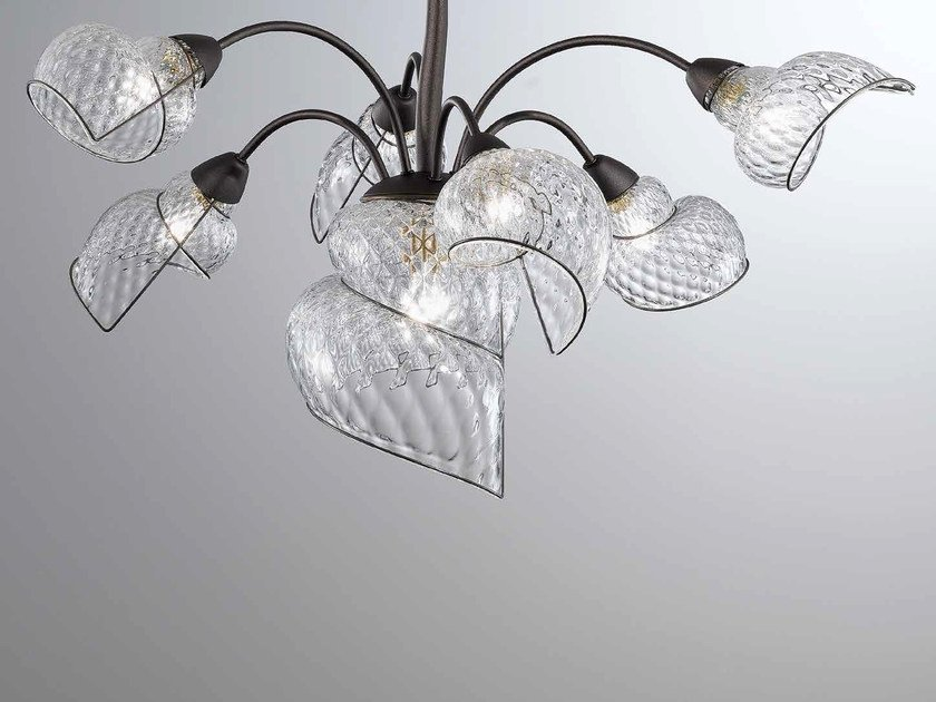 Murano glass chandelier CHIOCCIOLA MS 244 by Siru