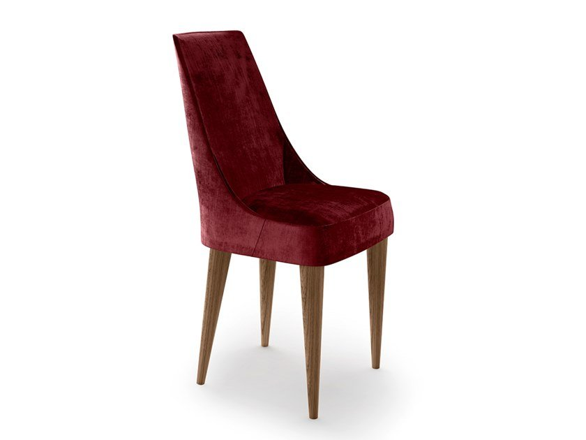 Upholstered velvet chair CHLOE by EXENZA