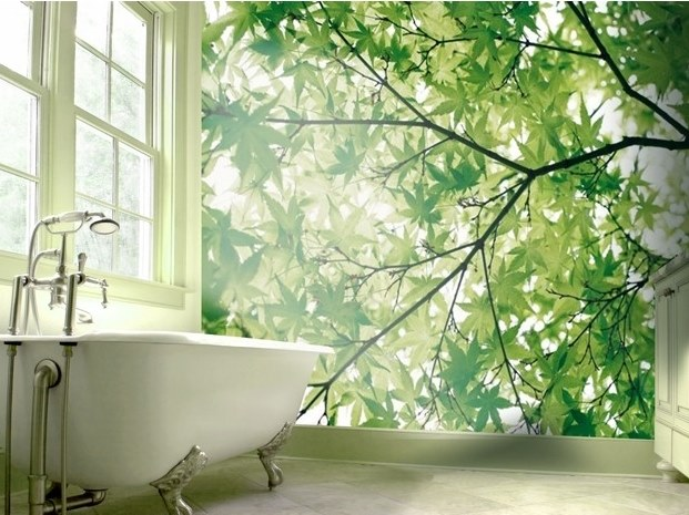 Panoramic JET TEX wallpaper CHLOROPHYLL by ACTE-DECO
