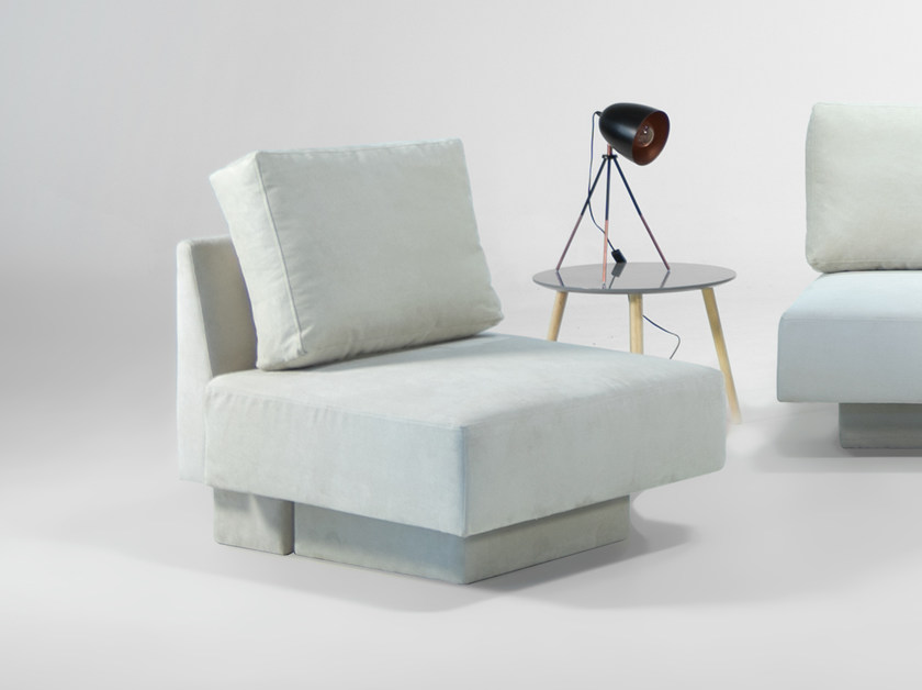 Modular armchair with removable cover CHOICE | Modular armchair by Feydom