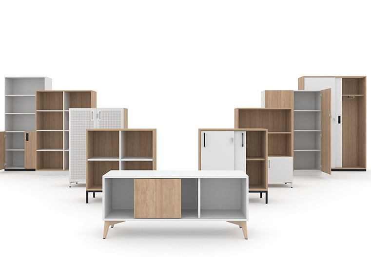 Low Modular Office Storage Unit With Sliding Doors CHOICE | Office Storage  Unit With Sliding Doors