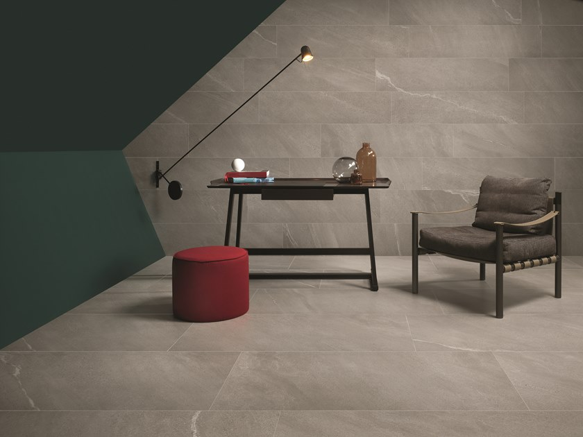 Porcelain stoneware wall/floor tiles with stone effect CHORUS SILVER by CERAMICHE KEOPE