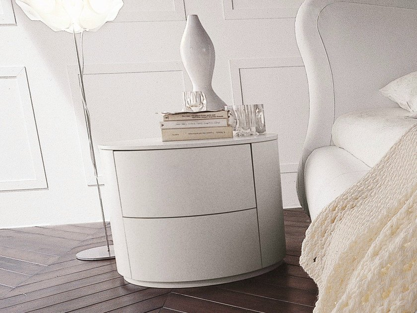 Lacquered bedside table with drawers CHRISTAL | Lacquered bedside table by Dall'Agnese