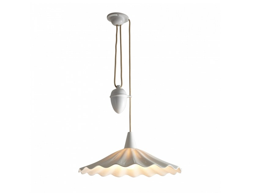 Adjule Porcelain Pendant Lamp Christie Rise Fall