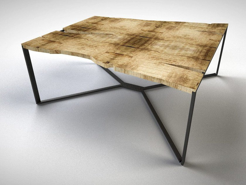 Square wooden table CHROMOSOME | Square table by IronWoods