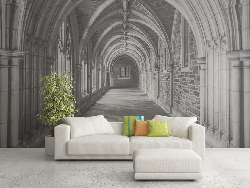 Trompe l'oeil wallpaper CHURCH by Wall LCA