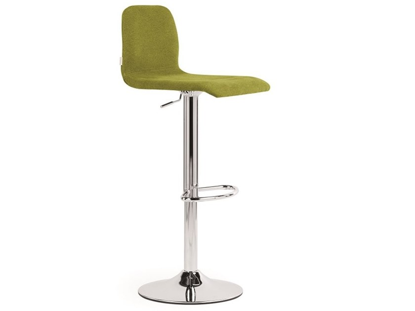 Upholstered height-adjustable stool CIAO | Height-adjustable stool by Natisa