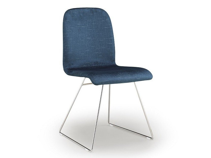 Upholstered chair CIAO | Sled base chair by Natisa