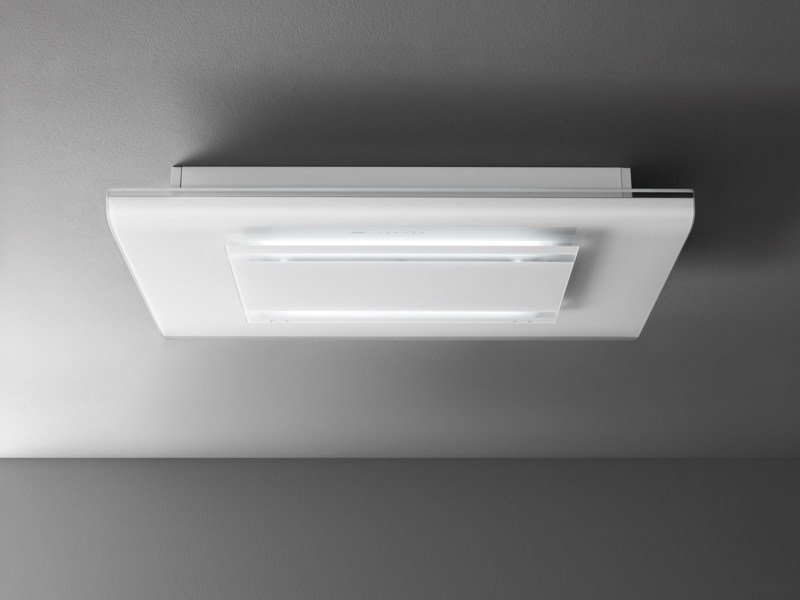 Tempered glass cooker hood with integrated lighting CIELO by Falmec