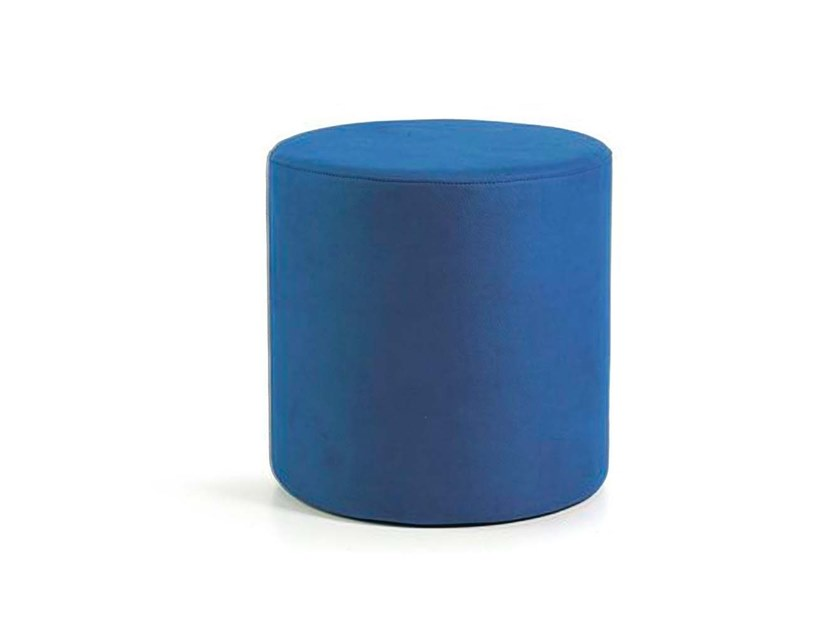 Upholstered round pouf CILINDRO by Trevisan Asolo
