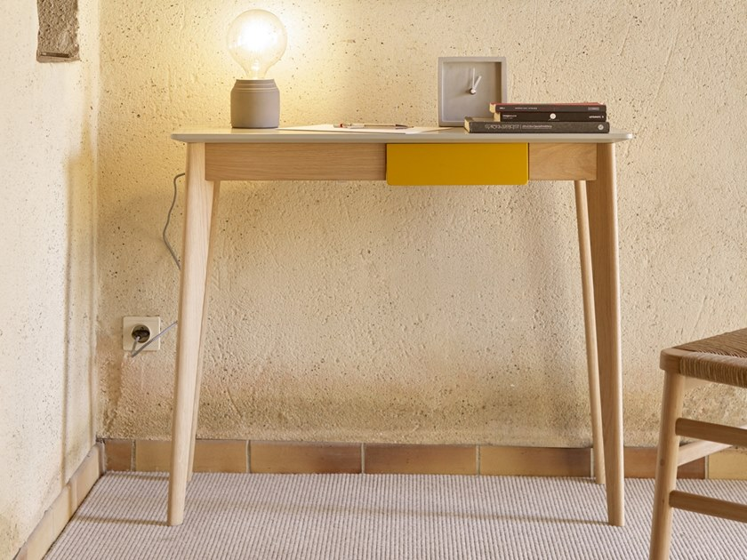 Wooden console table with drawers CIMA by HENRI TUJAGUE