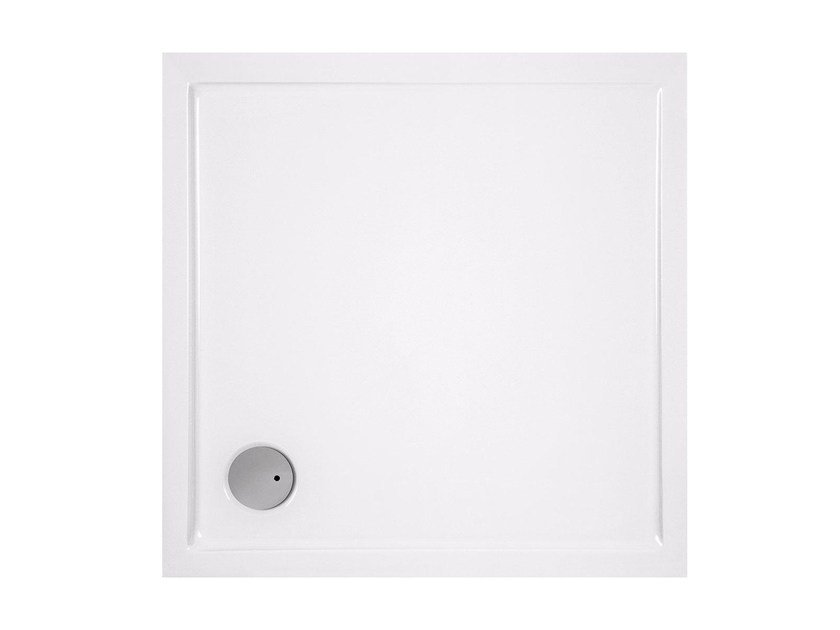 Square acrylic shower tray CINCO | Square shower tray by Glass1989