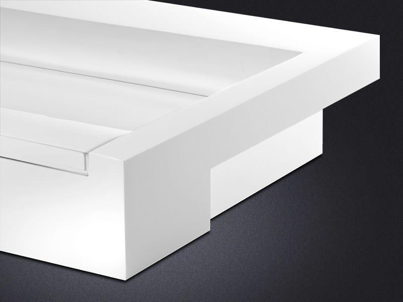 Semi-inset rectangular resin washbasin CINCO | Inset washbasin by Vallvé