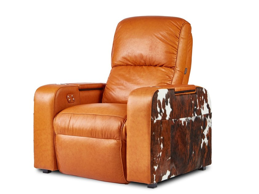 Leather Cinema armchair with motorised functions DALLAS | Cinema armchair by moovia