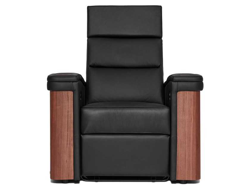 Leather Cinema armchair with motorised functions STOCKHOLM | Cinema armchair by moovia