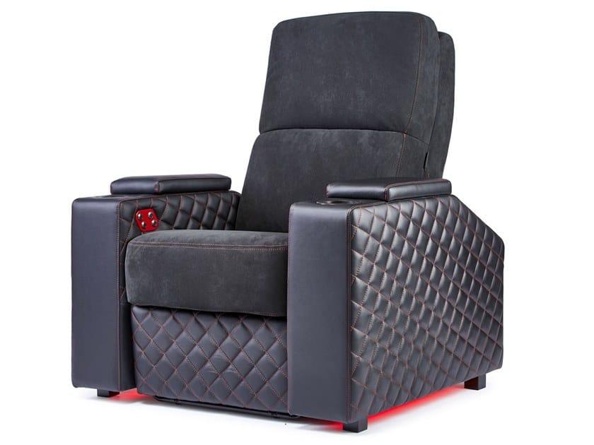Microfiber Cinema armchair with motorised functions VENICE | Cinema armchair by moovia