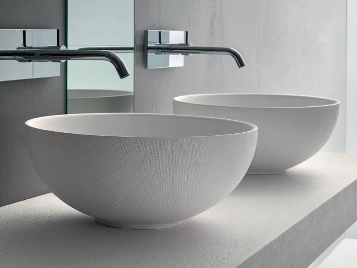 Countertop round Pietrablu™ washbasin CIOTOLA 38 by ARBLU