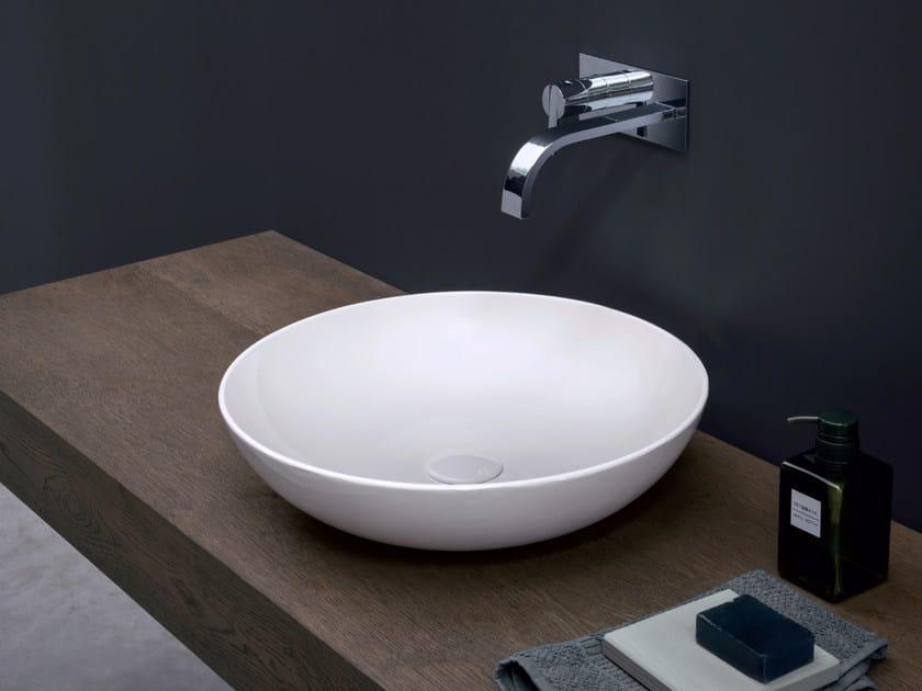 Countertop round ceramic washbasin CIOTOLA by Nic Design