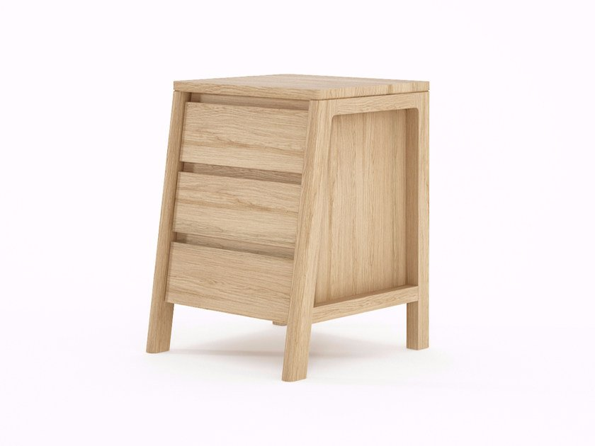 Wooden bedside table with drawers CIRCA17 | Bedside table with drawers by KARPENTER