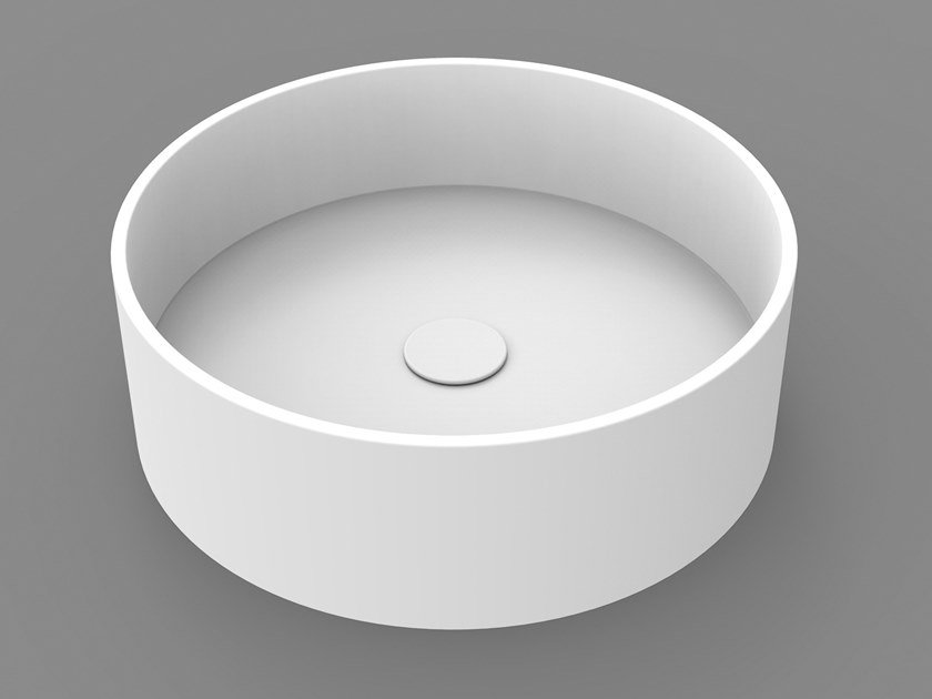 Contemporary style countertop round washbasin CIRCLE BASIN by DIMASI BATHROOM