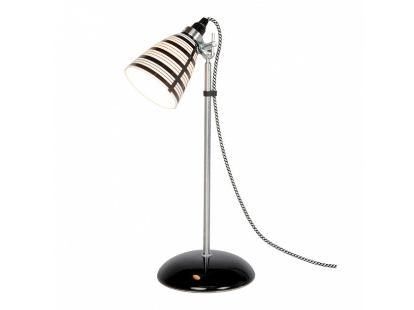 Adjustable porcelain table lamp with fixed arm CIRCLE LINE SMALL by Original BTC
