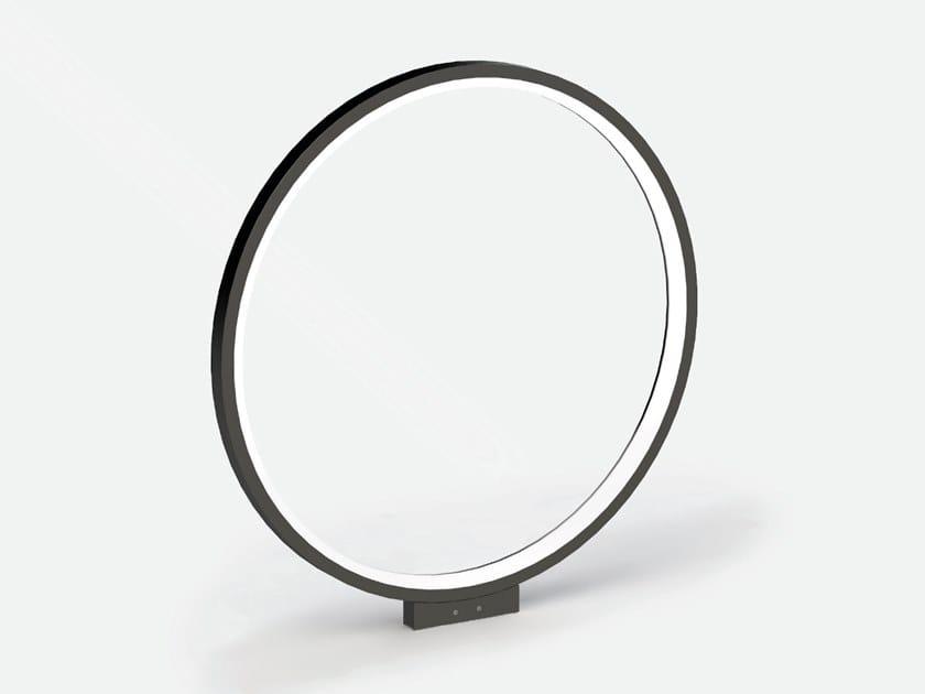 Lampada da parete per esterno a LED in alluminio estruso CIRCLE T800 by Lucifero's