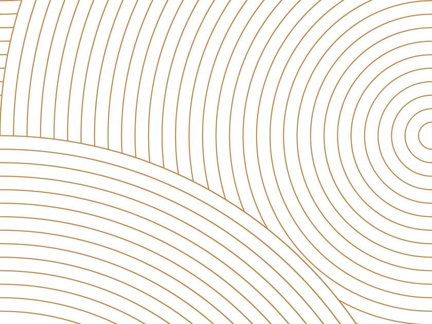 Carta da parati geometrica in carta non tessuta CIRCLES #02 by EXTRATAPETE