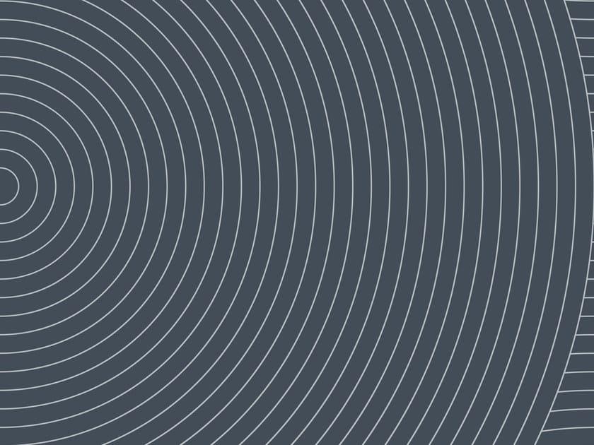 Carta da parati geometrica in carta non tessuta CIRCLES #03 by EXTRATAPETE