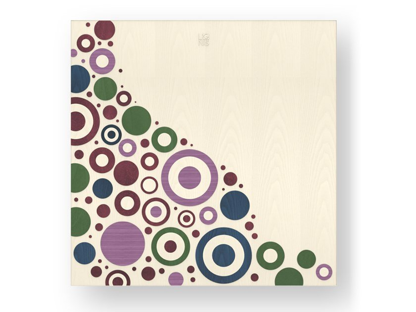 Quadro in legno intarsiato CIRCLES COLORS by LIGNIS®