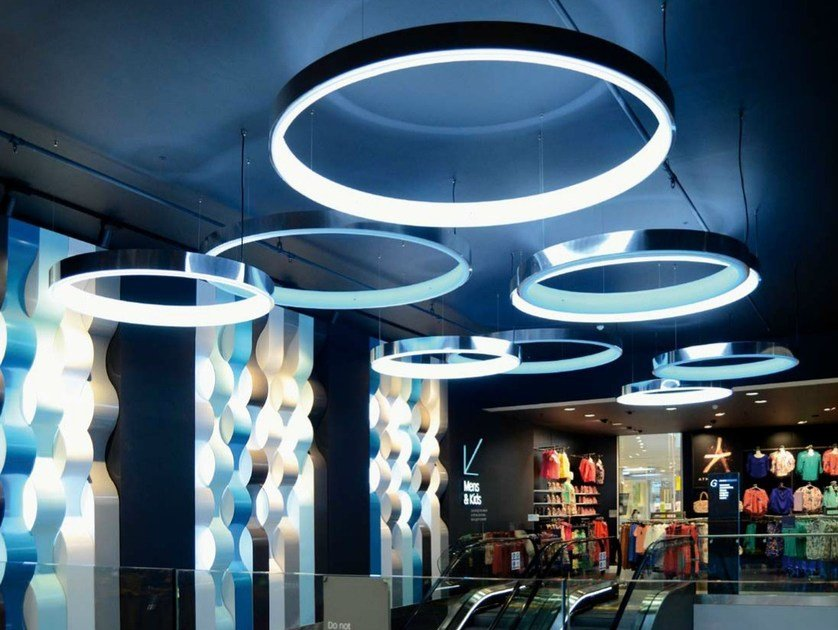 Led Aluminium Pendant Lamp Circolo Collection By